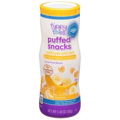 Tippy Toes Puffed Snack Guineo 1.48 oz