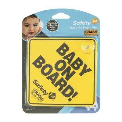 """Safety 1st Letrero """"Bebé a Bordo"""" Amarilo"""