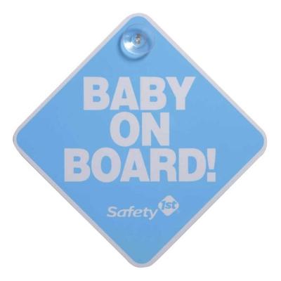 """Safety 1st Letrero """"Bebé a Bordo"""" Azul"""