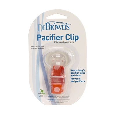 Dr Brow's Clip para Chupete Rojo