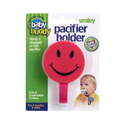 Baby Buddy Clip para Chupete Smiley Rosa