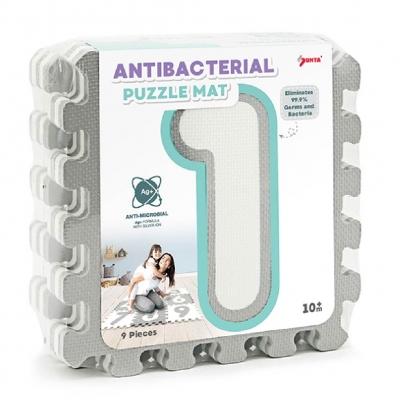Sunta Alfombra Antibacterial 9 Pzas Gris