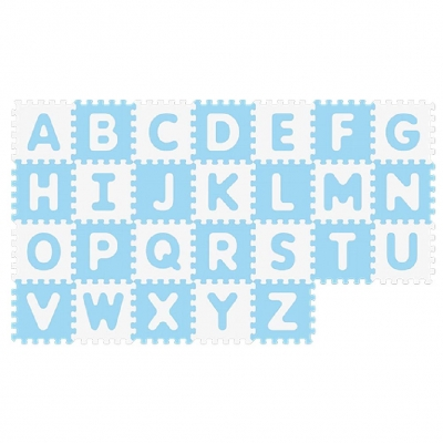 Sunta Alfombra Antibacterial con Alfabeto 26 Pzas Azul