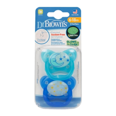 Dr Brown's Chupete Glow in the Dark Azul