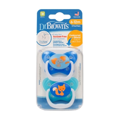Dr Browns Set 2 Chupetes Animales Azul