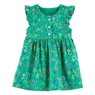 Carter's Vestido con Flores Verde