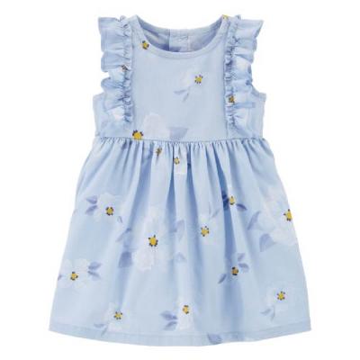 Carter's Vestido Azul Claro con Flores