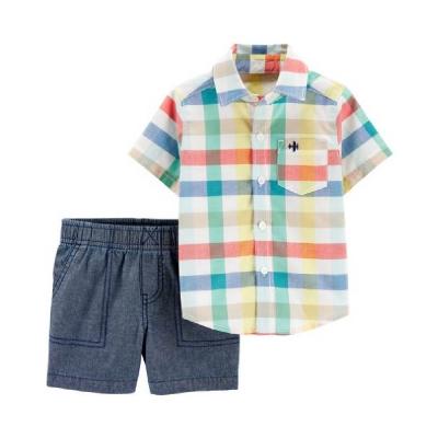 Carter's Conjunto con Camisa a Cuadros