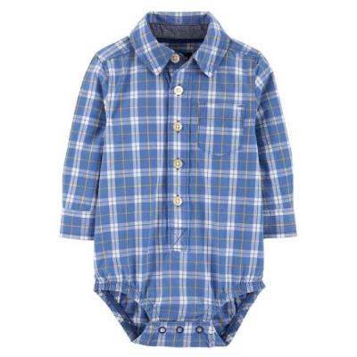 Carter's Enterizo tipo Camisa a Cuadros