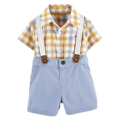 Carter's Conjunto con Breteles y Camisa a Cuadros
