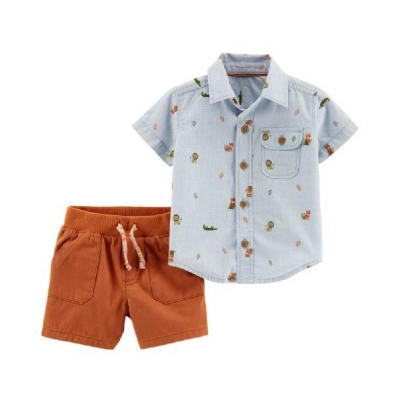 Carter's Conjunto con Camisa Manga Corta Estampada