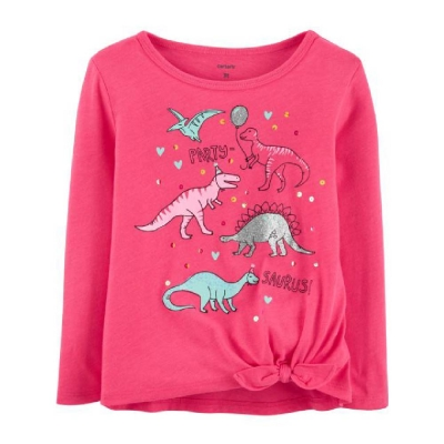 Carter's Camiseta Mangas Largas Dinosaurios