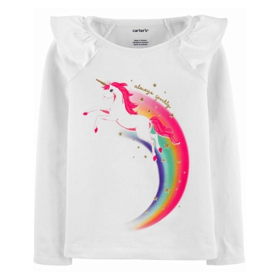 Carter's Camiseta Mangas Largas Unicornio
