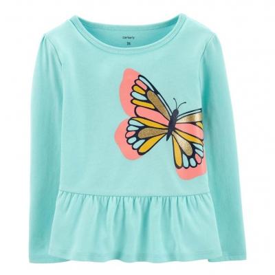 Carter's Camiseta Mangas Largas Mariposa