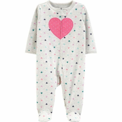 Carter's Pijama con Pies Corazones
